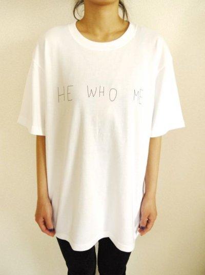画像1: HE WHO ME TEE   (WHITE)