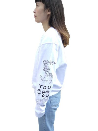 画像2: POSITIVE GRAFFITI  SWEAT (WHITE)