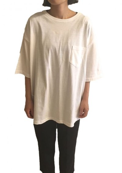画像3: YOU KNOW - POCKET BIG TEE   (WHITE)