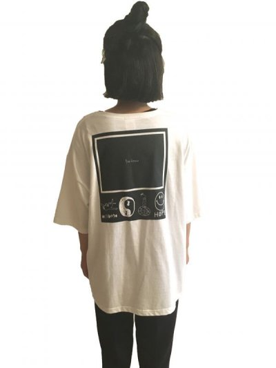 画像1: YOU KNOW - POCKET BIG TEE   (WHITE)