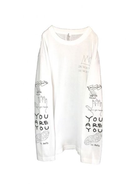画像1: POSITIVE GRAFFITI  L/S TEE (WHITE) (1)