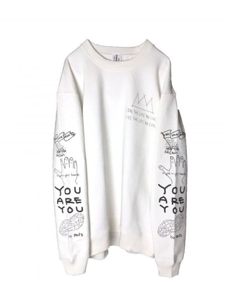画像1: POSITIVE GRAFFITI  SWEAT (WHITE) (1)