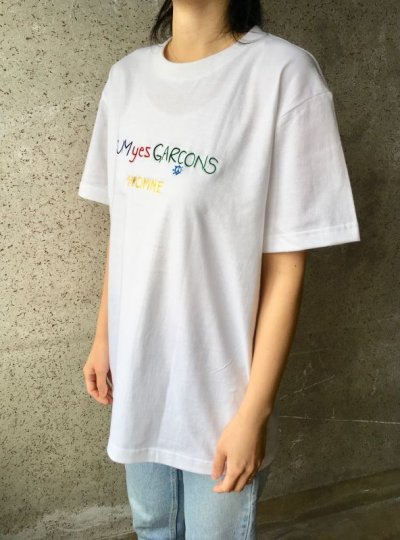 画像2: CUM yes GARCONS  TEE   (PURPLE)