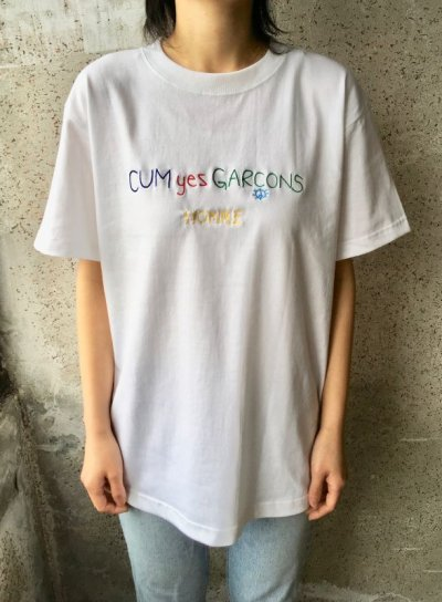 画像1: CUM yes GARCONS  TEE   (PURPLE)