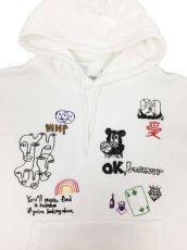 画像4: His scribble hoodie (4)