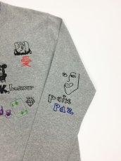 画像6: His scribble  L/S TEE (MIX GREY) (6)