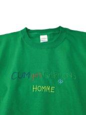 画像2: CUM yes GARCONS  TEE  (マルチカラー刺繍) (2)