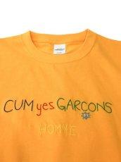 画像6: CUM yes GARCONS  TEE  (マルチカラー刺繍) (6)