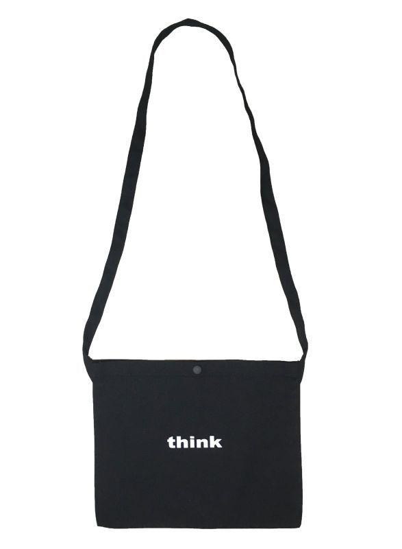 画像1: think サコッシュ  (BLACK) (1)