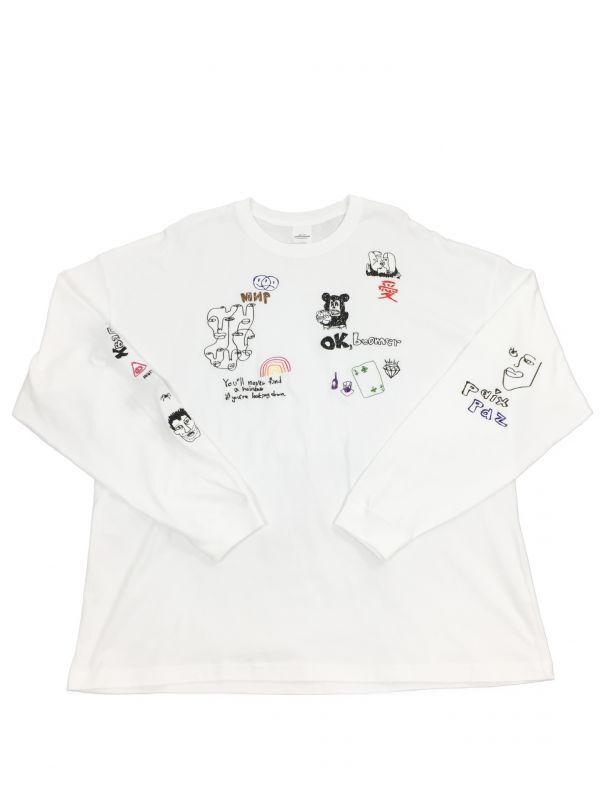画像1: His scribble  BIG L/S TEE (1)